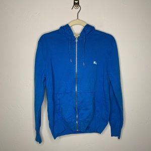 Burberry Brit Blue Zip Up Hoodie Sweatshirt L